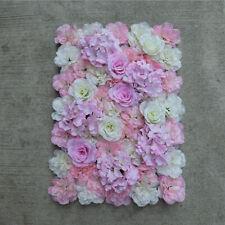 Silk Flower Wall Panel Wedding Venue Main Road Shop Window Decor Pink White