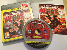 PS3 PLAYSTATION 3 juego Tom Clancy's Rainbow Six Vegas 2 COMPLETO PAL gwo