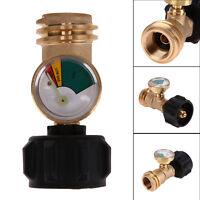 Propane Tank Gas Grill BBQ RV Pressure Meter Indicator Fuel Brass Gauge Tool New