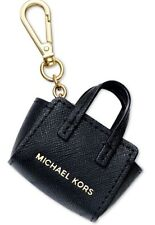 New Michael Kors Selma petite Key Charm saffiano leather carabiner clip closure