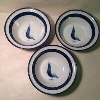 Set Of 3 Noritake Running Free Cereal Bowls Fantastic Condition Japan Vintage
