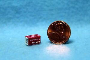 Dollhouse Miniature Detailed Replica Ibuprophen Medicine Box HR52138
