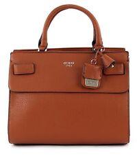 GUESS Cate Satchel Tasche Handtasche Umhängetasche Schultertasche Braun Cognac