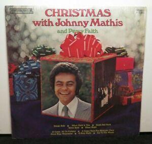 JOHNNY MATHIS & PERCY FAITH CHRISTMAS WITH (VG+) P-11805 LP VINYL RECORD