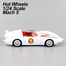 "2007 Mattel HotWheels Speed Racer ""Mach 5"" 1/24 Diecast Car Model Rare Gift"