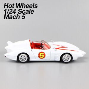 """2007 Mattel HotWheels Speed Racer """"Mach 5"""" 1/24 Diecast Car Model Rare Gift"""