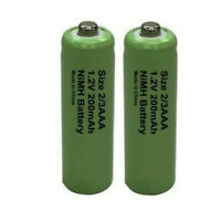 2 x 2/3AAA (Two Thirds AAA 30mm) Solar Light Batteries Rechargeable 1.2V NiMH