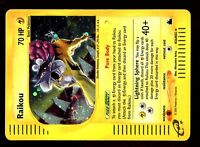 POKEMON SKYRIDGE HOLO (ENGLISH CARD) CARTE N° H26/H32 RAIKOU