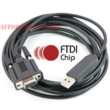 10' FTDI USB CAT interface cable Kenwood TS-2000 TS-590s TS-870s TS-570d TS-570s