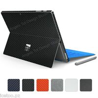 For Microsoft Surface PRO 4 CARBON Fibre Decal Protector Wrap Sticker Skin