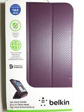 """Original BELKIN Tri-Fold Folio Purple Case Cover for Samsung Galaxy Tab E 8"""""""