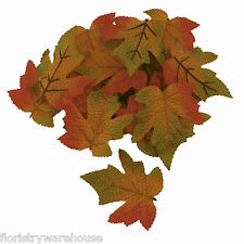 Beautifully Detailed Artificial Autumn Maple Leaves - 9cm, Pack of 16