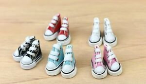 """1Pair 3.5cm Canva Shoes For Blythe Dolls Sneakers For 11.5"""" Doll Mini Shoes 1/6"""