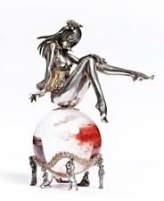 "Silver Figurine ""Girl on ball"""