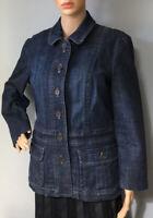 Landsend Womens Hip Length Denim Jacket Pockets U.K. Size 8 Blue BNWOT