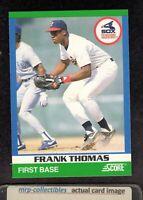 1991 Score Rising Stars #78 Frank Thomas Chicago White Sox HOF Baseball Card