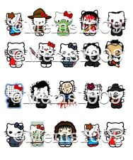 Horror Film nail art (Water Decals) Freddy, Jason,chucky,leather Face,beetlejuic