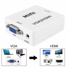 1080P HD VGA To HDMI Converter Adapter With Audio Cable For HDTV PC Laptop Mini