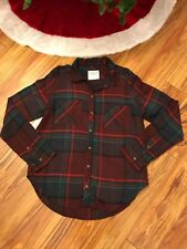 NWOT Abercrombie And Fitch Women's Plaid Flannel Shirt Size Large