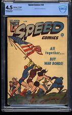 Speed Comics #38 CBCS VG+ 4.5 Off White to White
