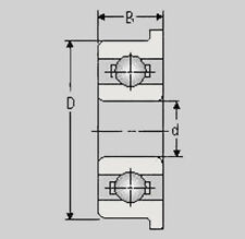 Miniatur Kugellager MF106 ZZ, 6x10x3, MF 106 ZZ