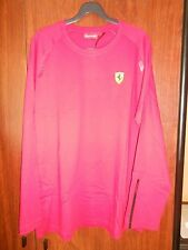 tee-shirt manches longues FERRARI rouge taille S - XXL - neuf