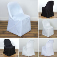 10 POLYESTER ROUND FOLDING CHAIR COVERS Wedding Party Dinner Decorations on SALE