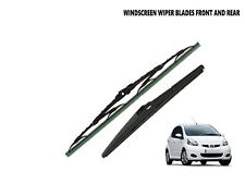 """FRONT AND REAR WIPER BLADES FITS TOYOTA AYGO 2005 - 2014 (26"""" RB-1)"""