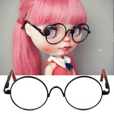 Free Shipping For 12'' Neo Blythe Doll  New Black Round Doll Glasses Beauty