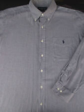 Ralph Lauren Mens Polo Yarmouth Button Front Long Sleeve Logo Shirt 16 1/2