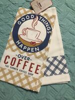 Farmhouse Decor, Tea Towel,Kitchen, Dish, Farm, Good Things Coffee Set Of 2