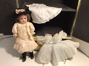 """Nice Antique German Doll With Extra Dress & Slip11-1/2"""""""