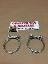 """Radiator Hose Clamps Wire Style 2"""" Correct Fit Willys M38 M38A1 Dodge M37"""