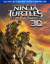 Exc Cond Like New Teenage Mutant Ninja Turtles Out of the Shadows 3D 2D DVD TMNT