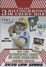 2020 Hit Premier Draft Football sealed Blaster Box Low Series 60 + card 3 auto