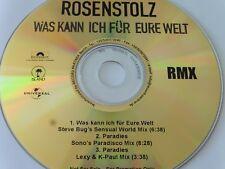 Rosenstolz Was kann ich für Eure Welt / Paradies RMX Promo Maxi - CD 2003 rar!!!