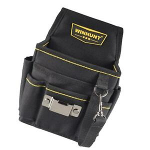 Electrical Tool Bag Waist Hanging Belt Bags Electrician Carpenter Black B