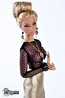 "ELENPRIV Black slim fit mesh top for Fashion Royalty FR2 12"" similar dolls"