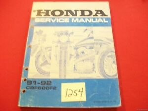 ORIGINAL FACTORY ISSUED HONDA CBR600F2 CBR600-F2 MANUAL 1991-92 VGC MOTORCYCLE