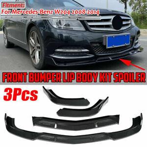 Carbon Fiber Look Front Bumper Lip Splitter For Mercedes W204 C Class 2008-2014