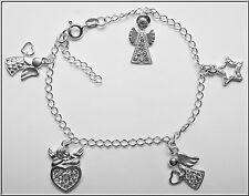 Bettelarmband mit Anhänger Echt 925er.Sterling Silber 15g längenverstellbar Nr14