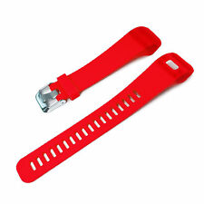 TUFF LUV Silicone strap Wrist Band for VivoSmart HR + Plus / Approach X10 - Red