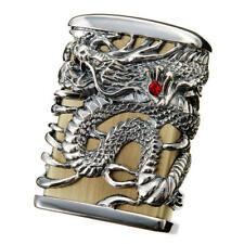 Zippo Tenryu Sky Dragon Full Metal Jacket Brass Silver Plating F/S Japan Limited