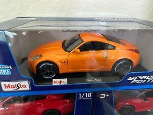 MAISTO 1/18 Diecast 2005 Nissan 350Z EXCLUSIVE STYLE ORANGE # 31672