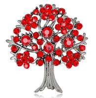 NEW SILVER GOLS TONE TREE OF LIFE DIAMANTE RHINESTONE CRYSTAL WEDDING BROOCH PIN