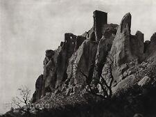 1927 Vintage FRANCE Les Baux-de-Provence Alpilles Mountain Photo Art ~ HURLIMANN