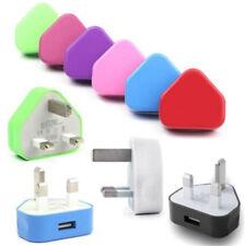 3 Pin UK Travel Plug Adapter Charger Portable Wall Socket USB Port for Phones