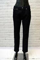 Jeans Nero con Brillantini Donna TRUSSARDI Taglia 30 Pantalone Pants Woman