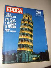 EPOCA=1963/686=PISA TORRE=LEV JASIN=ORNELLA VANONI=GIULIO NATTA=LENGEDE MINIERA=