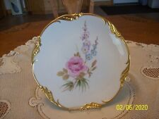 Osborne Vintage Handpainted Floral Spray 22 KT. Gold Decorative Porcelain China